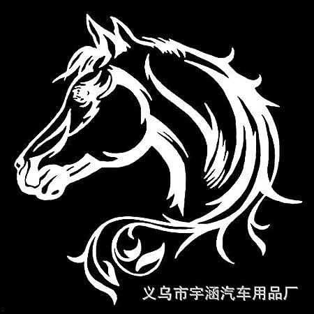 Autoaufkleber Aufkleber Fensteraufkleber Reflektierend Pferd Pferd Totem Pegasus Pferd schwarz