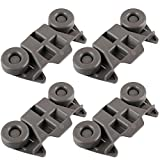 Siwdoy (Pack of 4) W10195416 Dishwasher Wheel for Whirlpool Kenmore Dish Rack AP5983730, PS11722152, W10195416V
