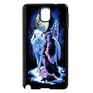 Wolf and moon,smart wolf series protective cover For Samsung Galaxy NOTE3 Case Cover u-ycq-s52560