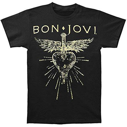 Global Bon Jovien's Hear Dagger T-Shirt,Black,Medium ()