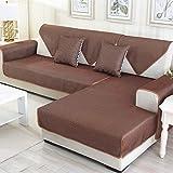 Balalei Grey/Coffee Summer Non-Slip Breathable Soft Sofa Cover Ice Silk Slipcovers Fundas De Sofa Sectional Couch Covers Fundas De Sofa,Coffee,60x60cm