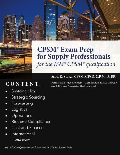 Cpsm  Exam Prep For Supply Professionals  For The Ism  Cpsm  Qualification