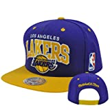 Mitchell & Ness Men's The Los Angeles Lakers Arch 2-Tone Snapback Cap One Size Purple offers