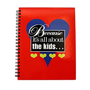 Teacher Peach Because It's All About the Kids Spiral Notebook
