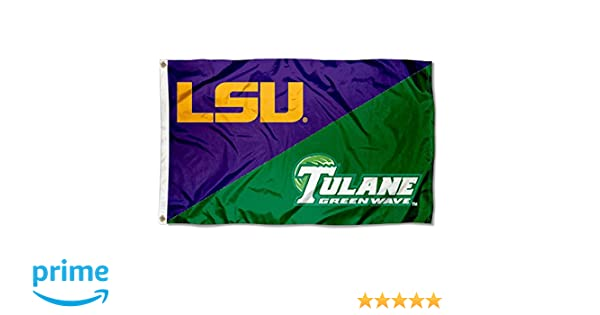 LSU vs Tulane House Divided 3x5 Flag and Banner