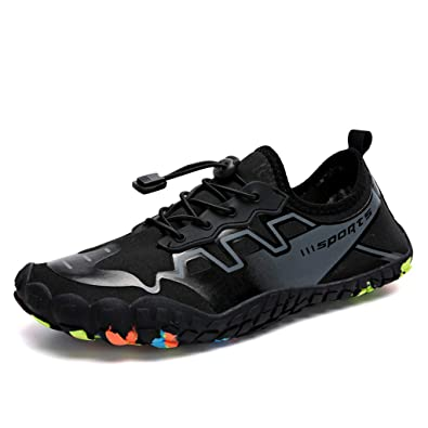 e60e75cbf68213 Hivot Water Shoes Unisex Quick-Dry Pool Beach Swim Drawstring Shoes Creek  Diving Shoes Men