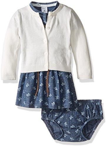 Carter's Baby Girls' Dress Sets, Denim, 6 Months