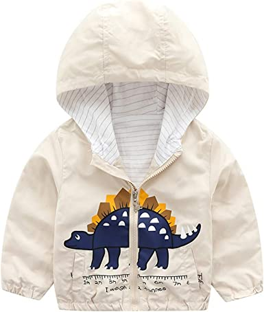 Yezijin Toddler Kids Baby Boy Girl Cartoon Hooded Warm Jacket Coat Outwear Winter Coats for Kids with Hoods