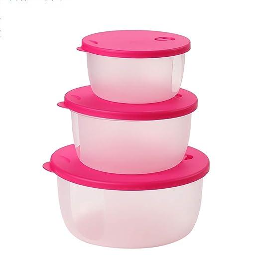 Kitchenware Crujiente de plástico Redondo con Tapa Refrigerador ...