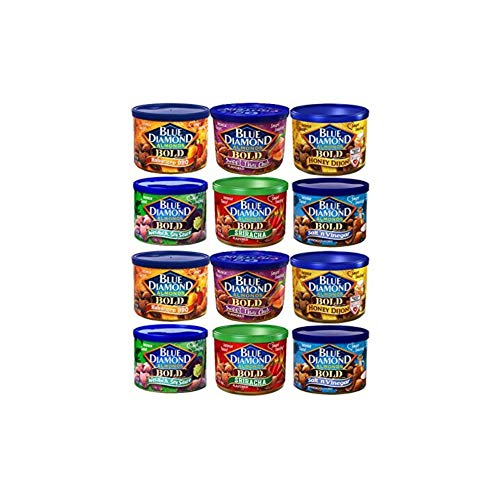 Blue Diamond Almonds VARIETY BOLD FLAVORS 6-Ounce Can (Pack of 12 ()