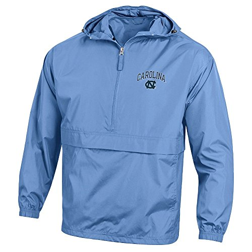 Elite Fan Shop North Carolina Tar Heels Packable Jacket Blue - L