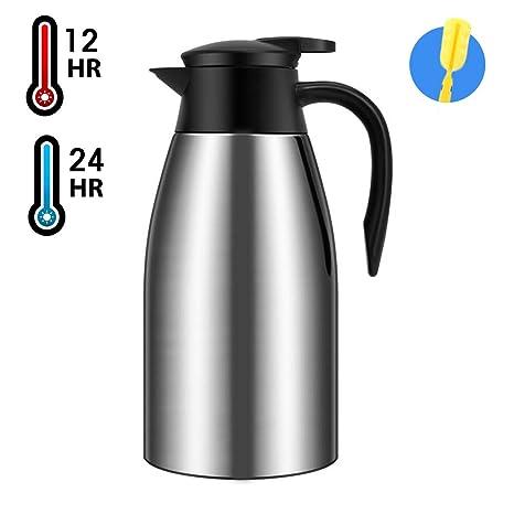 Amazon.com: Jarra de café de acero inoxidable con ...