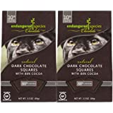 Endangered Species Chocolate, Panther, Dark Chocolate (88%), 10 ct Individually Wrapped Pieces, 2 pk