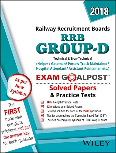 Wiley's RRB Group D Exam Goalpost Solved Papers and Practice Tests