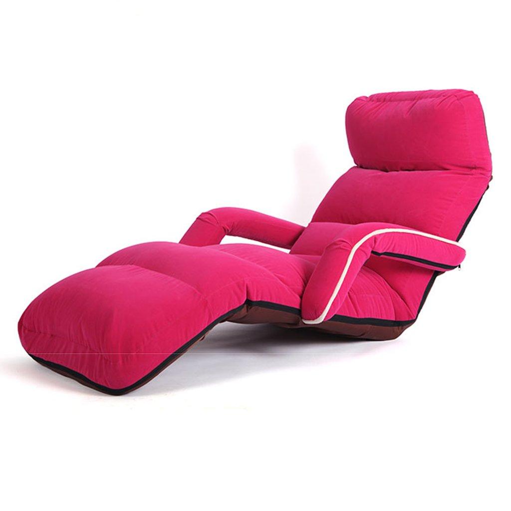 Chaise De Plancher Rose avec L'accoudoir pour des Filles, Se Pliantes Réglables De Jeu pour La Méditation