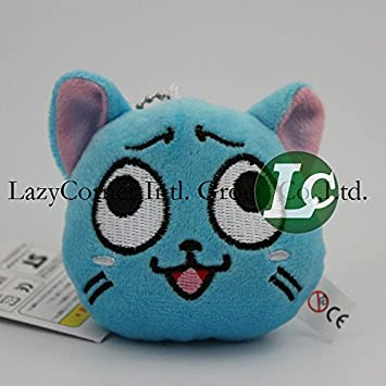 Amazon.com: 6 cm Cute Plush Toys Fairy Tail azul Happy gato ...