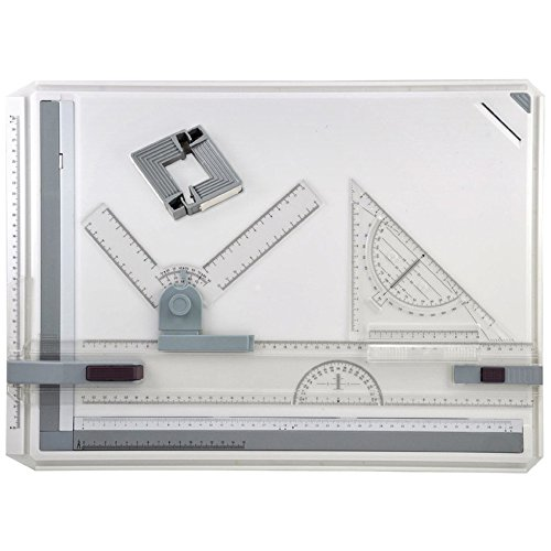MyLifeUNIT A3 Drawing Board, Drafting Board with Assorted Drawing Drafting Tools by MyLifeUNIT