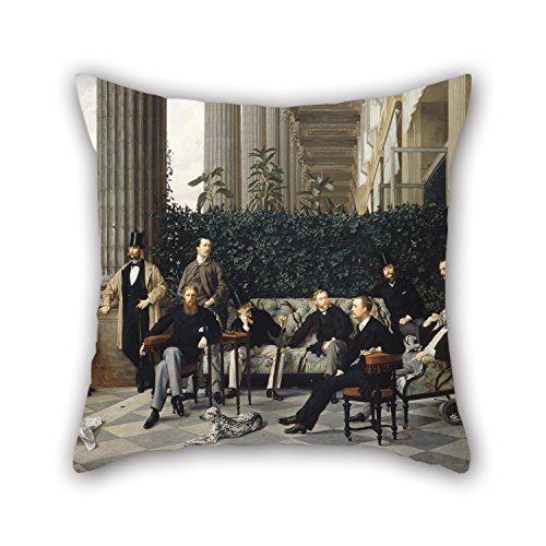 Gorgeous Eyelet (Bestseason Throw Pillow Case 20 X 20 Inches / 50 By 50 Cm(2 Sides) Nice Choice For Shop,adults,husband,home Theater,bedding,kids Oil Painting James Tissot - The Circle Of The Rue Royale)