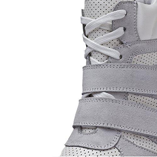 Generieke Womens Verborgen Sleehak Comfort Lederen Mode Sneakers Grijs