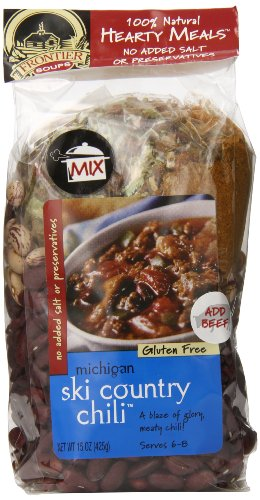 - Frontier Soups Hearty Meals Michigan Ski Country Chili, 15-Ounce Bags (Pack of 4)