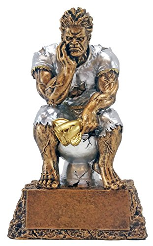 Decade Awards Monster Toilet Bowl Trophy | Loser/Last Place Award - Engraved Plate on Request Exclusive,gold, silver,6.5