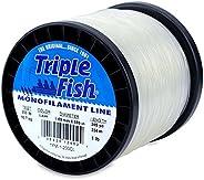 Triple Fish Mono Line, 200-Pound (90.7 Kg) Test.059 in (1.50 Mm) Diameter, Clear, 1-Pound (0.45 Kg) Spool, 245