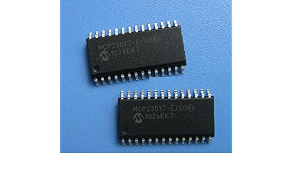 2PCS MCP23017 MCP23017-E//SO IC I//O EXPANDER I2C 16Bit 28SOP NEW