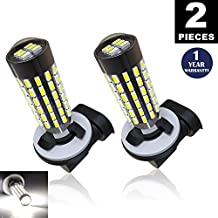LUYED 2 X 900 Lumens Super Bright 3014 78-EX Chipsets 881 Led Bulbs Used For DRL or Fog Lights,Xenon White