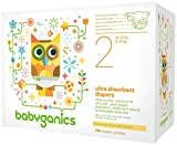 Babyganics Ultra Absorbent Diapers, Size 2, 108 Count