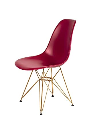 Emmyline Inspiree DSR Eiffel Synthetique Chaise Pieds Dore Neuf 36 Couleurs Moderne
