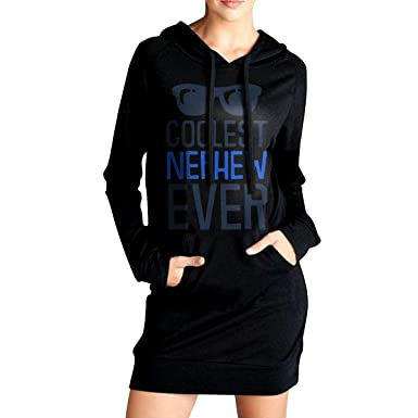 Women\u0027s Coolest Nephew Ever Long Hoodies, Fitted 100% Cotton