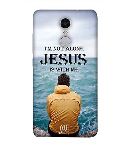 YuBingo Designer Printed Plastic Mobile Back Case Cover Panel for Xiaomi Redmi Note 4  2017 Edition   Jesus is with Me