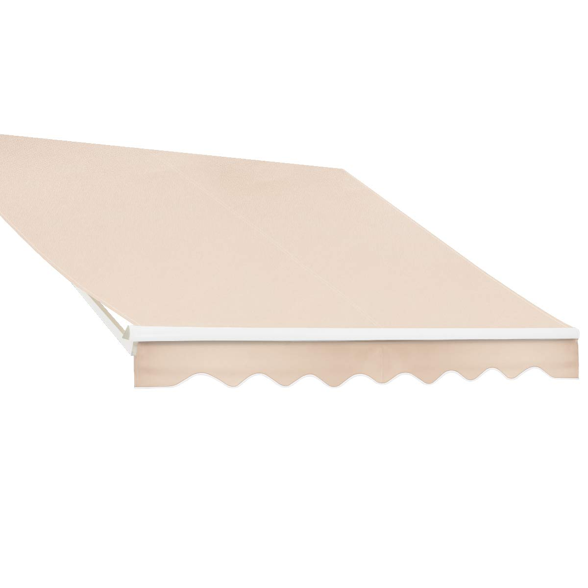 XtremepowerUS Patio Manual Retractable Sunshade Awning Shade Outdoor - Beige (10' x 8'ft) UV Resistant Water Sun Shade by XtremepowerUS (Image #4)