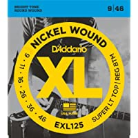 Cuerdas para guitarra eléctrica D'Addario EXL125 Nickel Wound, Super Light Top /Regular Bottom, 9-46