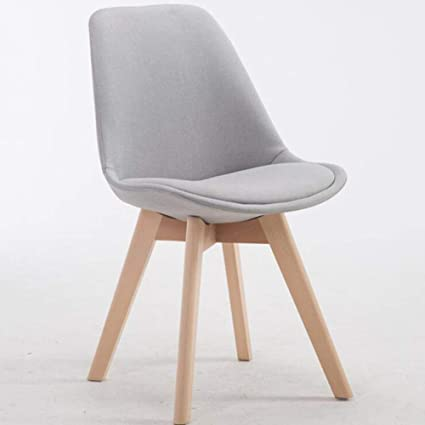 Amazon.com - YIZI Nordic Dining Chair Modern Minimalist Solid Wood ...