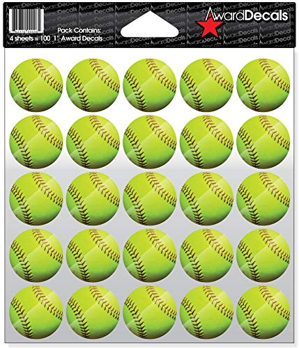 Award Decals Softball Full Color Decals (100 - Decals Softball