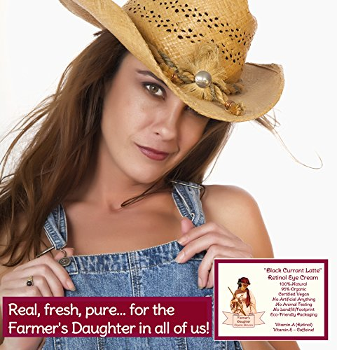 Black Currant Latte Retinol Eye Cream (1 oz) Best Organic Dark Circle Eye Cream, Wrinkle Remover, Anti-Aging Moisturizer for Eye Bags, Dark Circles, Fine Lines, Natural Skin Care Product with Caffeine