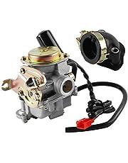 Wilktop Carburateur, reserve carburateur scooter carburateur motorfiets carburetor E-Choke reserve carburateur tuning carburateur 50cc/60cc carburateur voor verschillende modellen scooters en motorfietsen
