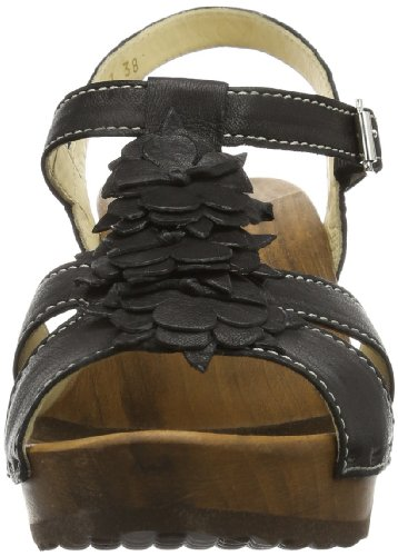 Woody Sarah 14267/85 - Zuecos de cuero para mujer Negro (Negro)