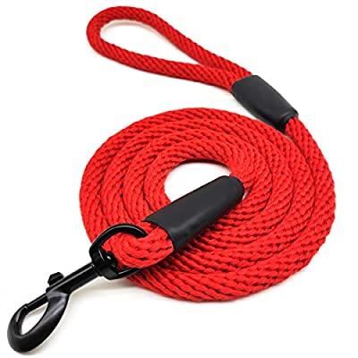 Mycicy 6 FT Cotton Rope Dog Leash, Strong Braided Lead Leash Multi-Colors Soft Pet Leash for Small Medium Large Dogs