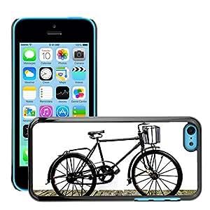 Print Motif Coque de protection Case Cover // M00293079 Vieja bici de la calle Blanco Negro // Apple iPhone 5C