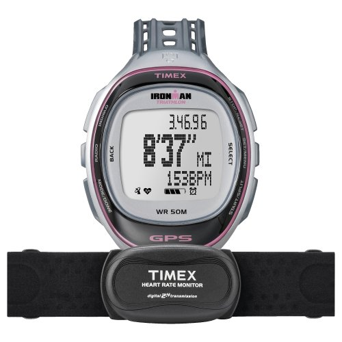 Timex Ironman Run Trainer GPS W/ Heart Rate Monitor Watch - T5K630