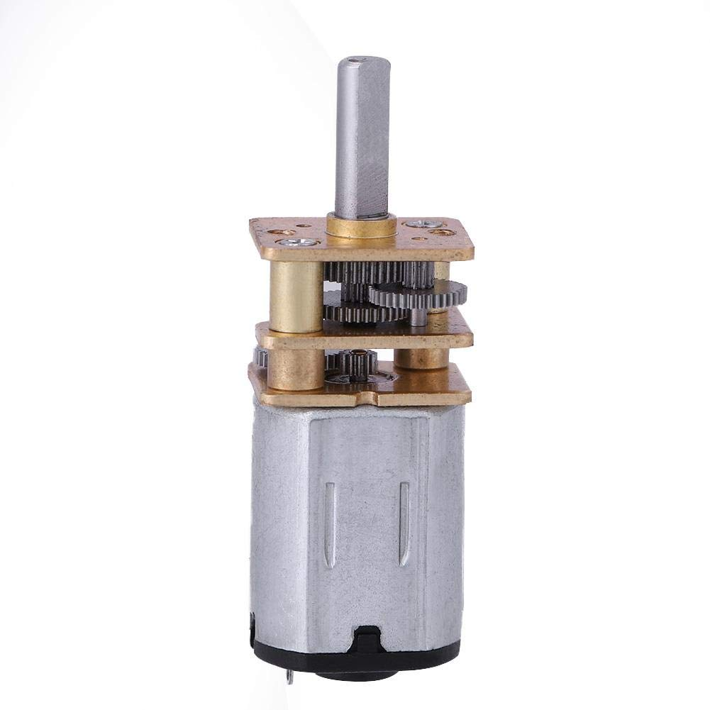 N20 DC 6V 100RPM Mini Speed Reduction Gear DC Motor with Full Metal Gearbox for RC Car Robot Model DIY Engine Toy