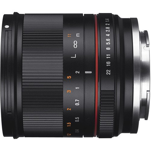 Rokinon RK21M-FX 21mm F1.4 ED AS UMC High Speed Wide Angle Lens for Fuji (Black)