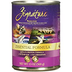 Zignature Grain Free Zsssentials Canned Dog Food 13Oz,12 Pack