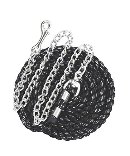 Perri's Cotton Lead with Chain, Black/Glitter, 1/2