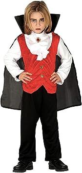 NET TOYS Tierno Disfraz de Conde Drácula para niño - Rojo 5 - 6 ...