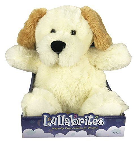 Lullabrites Plush Teddy Nighttime Lullabies Night Light Cuddle Buddy Dog (Nighttime Toys)
