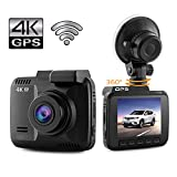 Dash Cam 4K Car Camera DVR Recorder Built In WiFi and GPS APP Support G Sensor Loop Recording Parking Monitoring 2.4