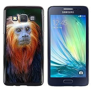 Be Good Phone Accessory // Dura Cáscara cubierta Protectora Caso Carcasa Funda de Protección para Samsung Galaxy A3 SM-A300 // monkey tiny cute ape tropical exotic